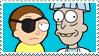 Evil Morty x Doofus Rick STAMP by ForeverSonu