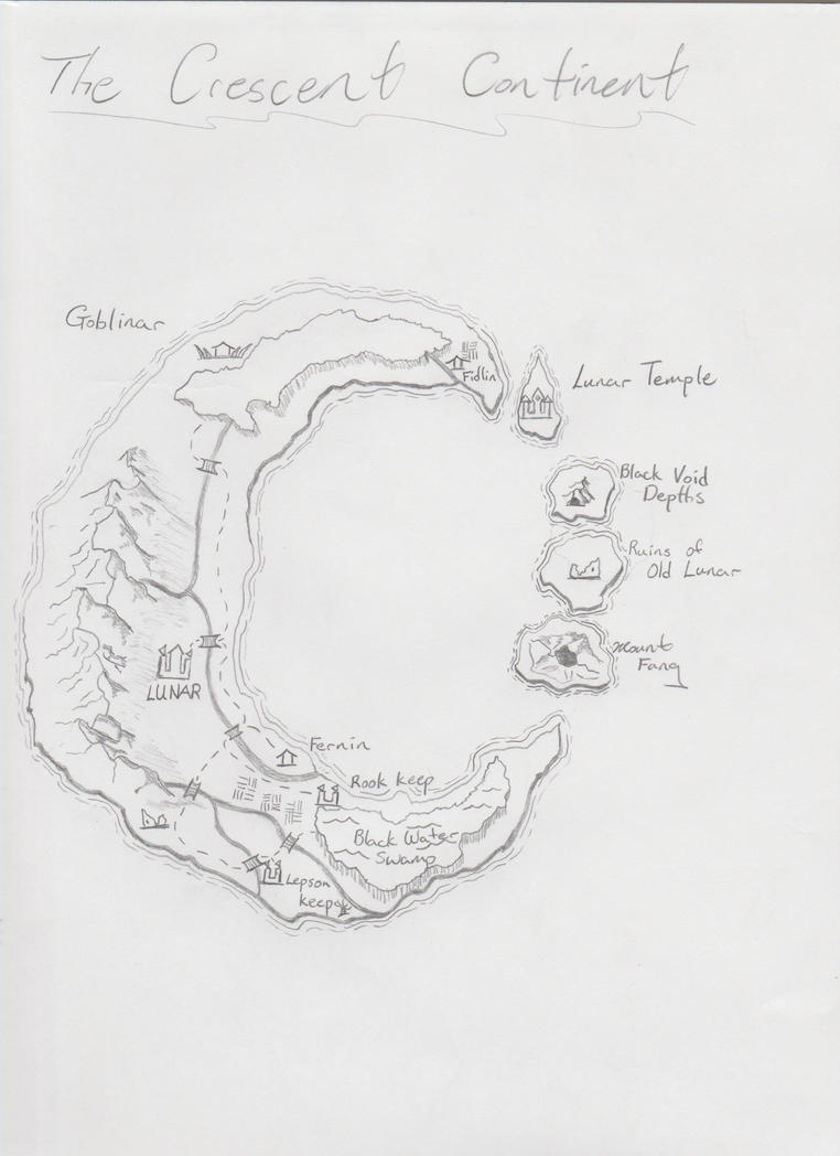 New Crescent Continent by paladin4hire