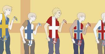aph: dance dance meme Nordics by ankouzai