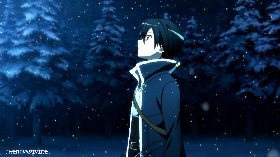 Kirigaya Kazuto Kirito Snow Wallpaper By TheNovaDivine