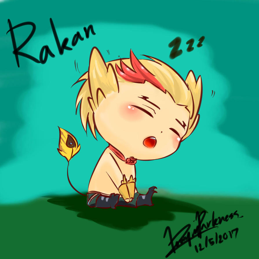 League of Legend Rakan chibi by DownInDarkness