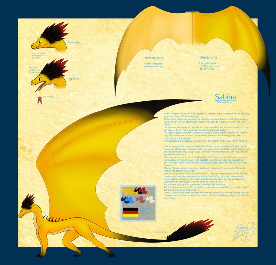 Sabine- Ref sheet by SenseiMac
