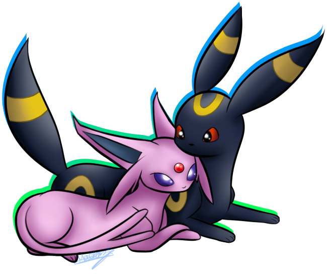 Espeon and Umbreon by SenseiMac on DeviantArt