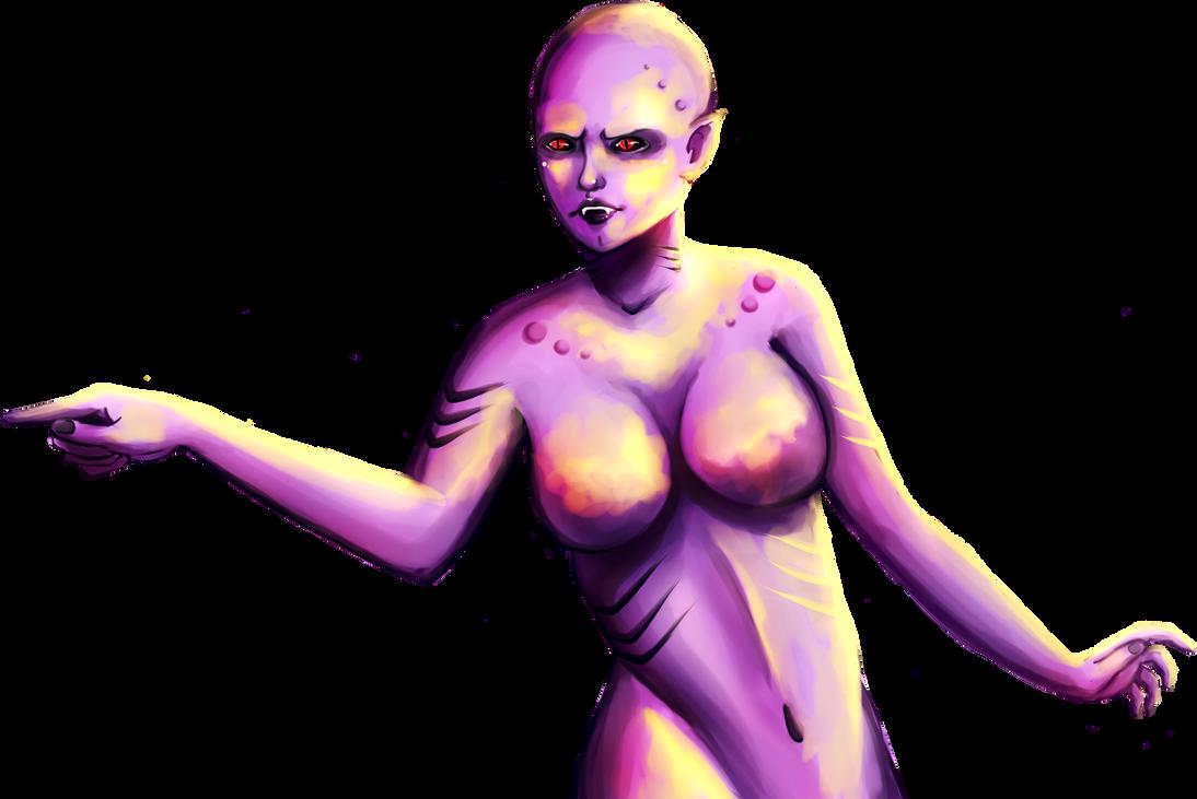 Purple Girl by AlmaGKrueger