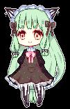 Green lolita Pixel by Nakimasen