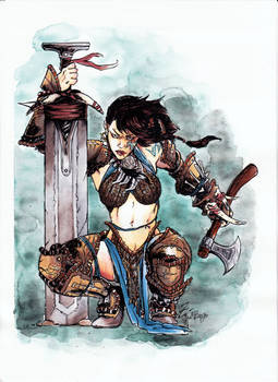 Pathfinder Barbarian-collaboration with ValeLuche