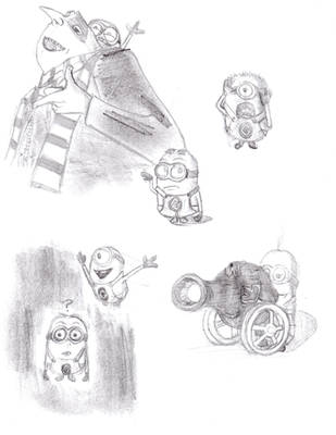 Gru and His Minions Sketches