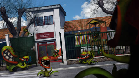 Carnivorous plants in school by UltimaDX