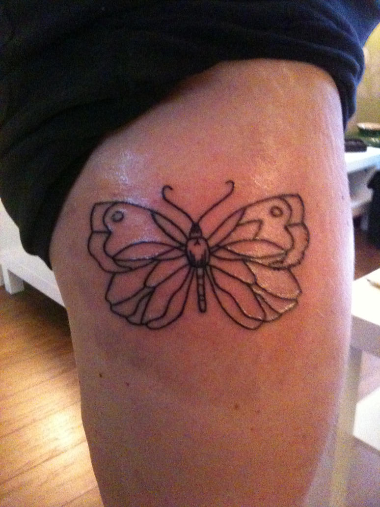 Butterfly tattoo line work 1 by bobyboy1 on deviantart for Tattoo line work