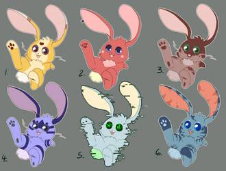 Bunny Adoptables by areyoshi
