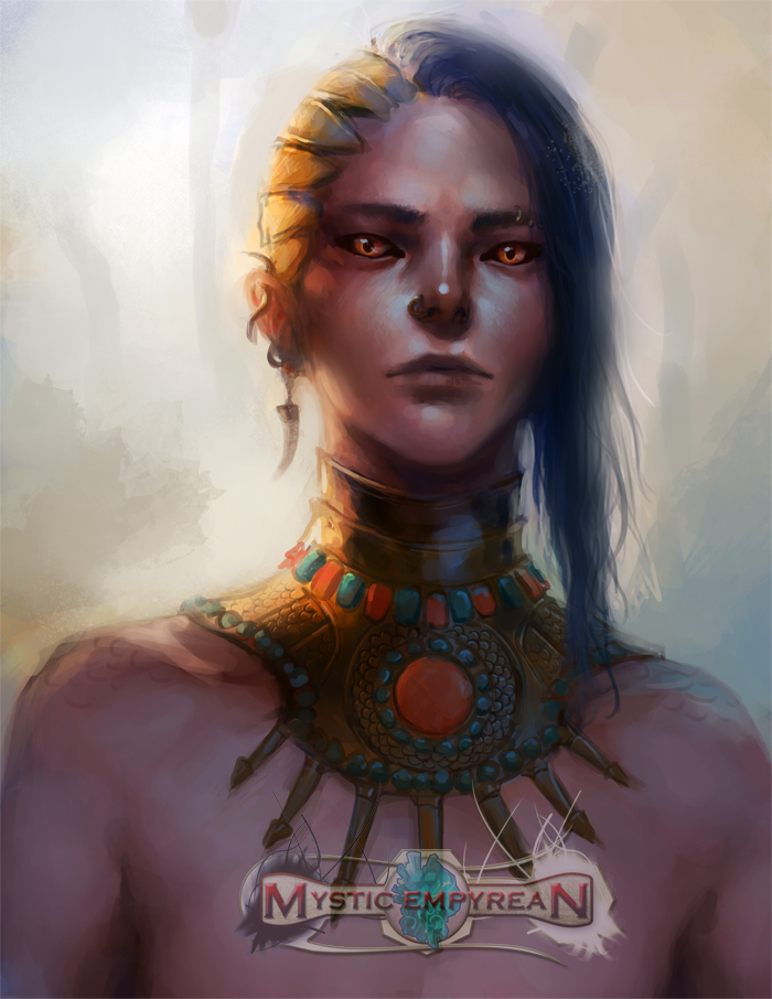 Mystic Empyrean: Tribal Portrait by k-atrina