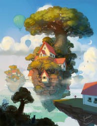 House on an island by k-atrina