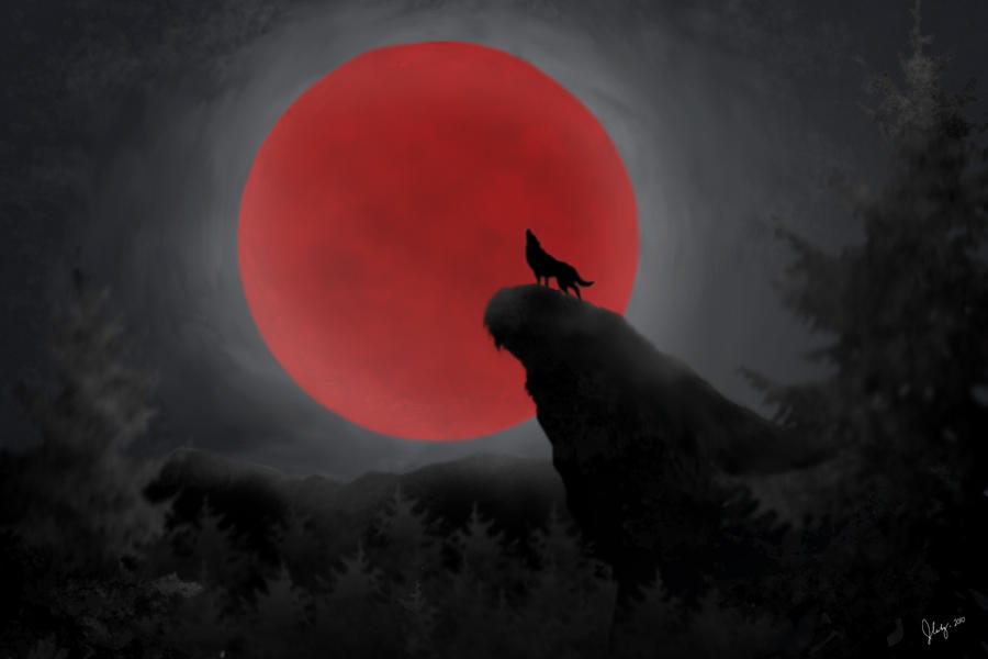 Red Full Moon By Chuckie Chan On DeviantArt Wallpaper