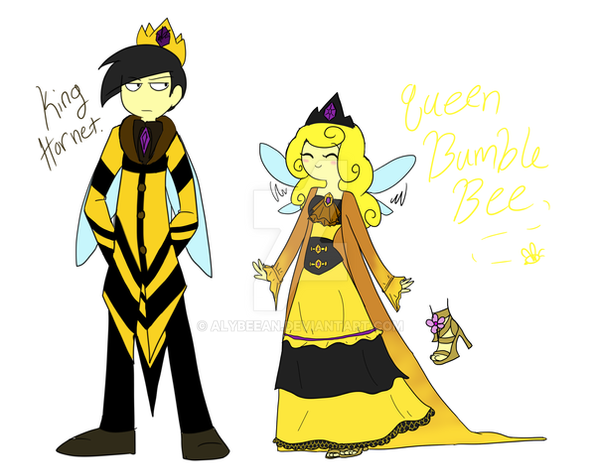 The King and Queen by TheLittlehoneybee