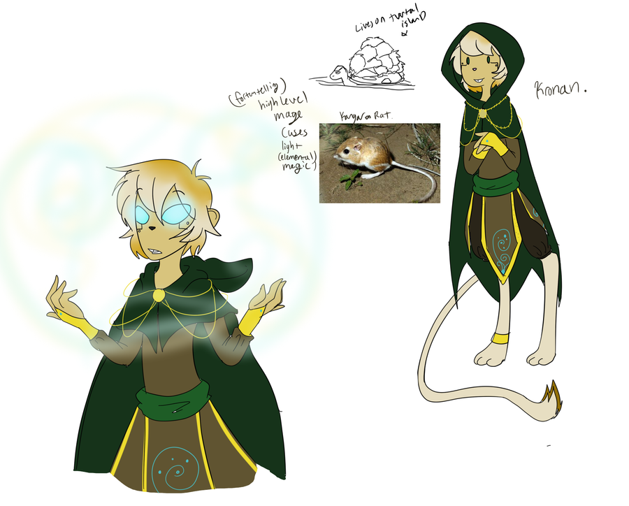 Kronan the mage by TheLittlehoneybee