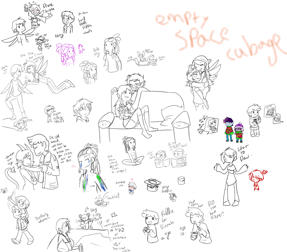 Join me sketch dump by TheLittlehoneybee