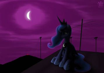 The Night Sky over the Vale by bossboi