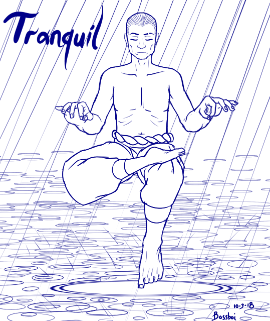 TRANQUIL (Inktober 2018: Day 2) by bossboi