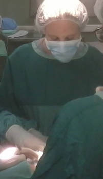 From surgery