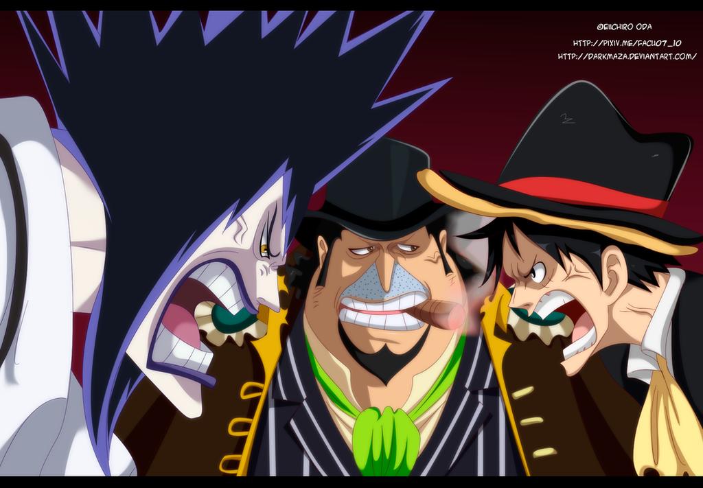 One Piece 858 ~ Luffy vs Bege vs Caesar by DarkMaza