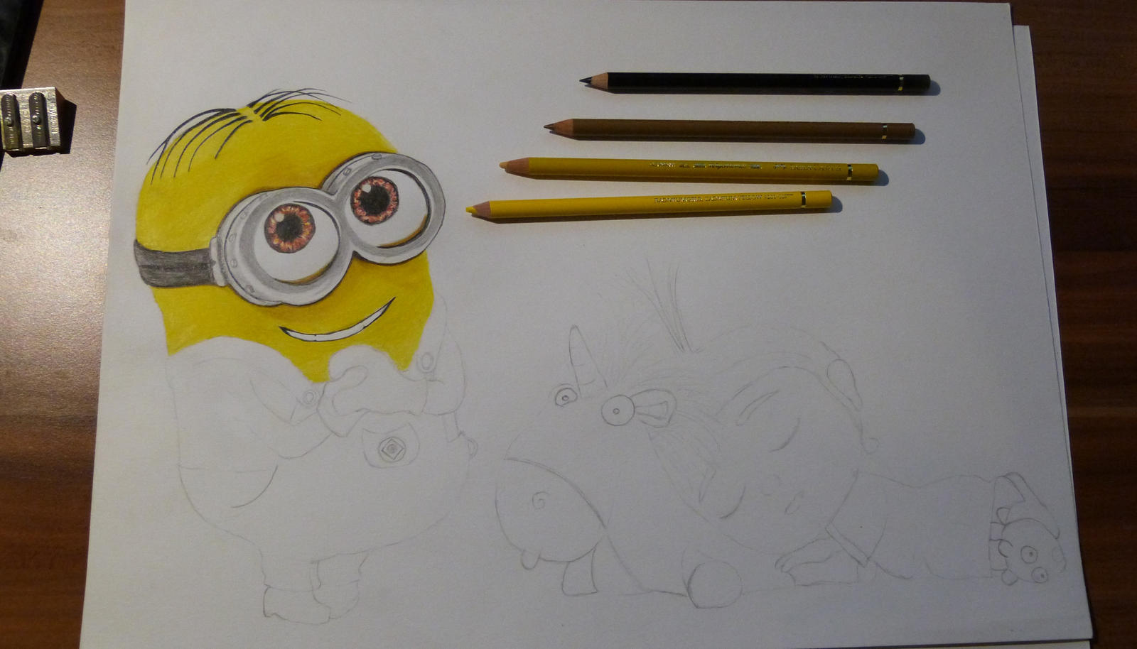 Agnes and Minion WIP 2 by Fivelinger