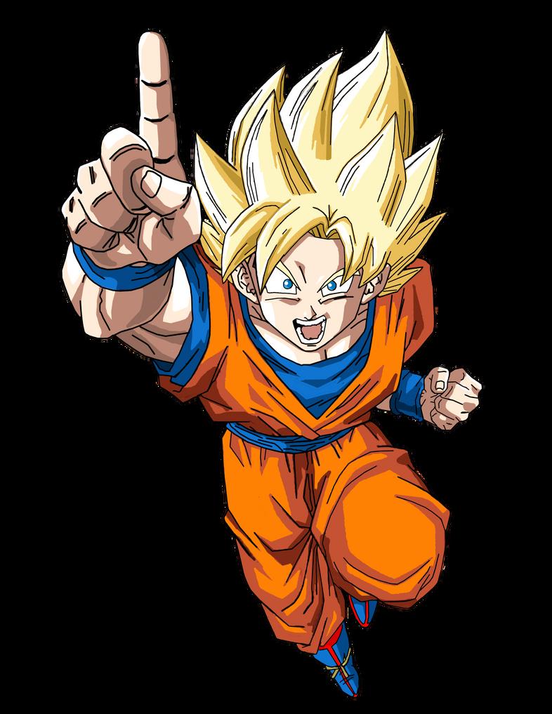 Goku Super Saiyan by BrusselTheSaiyan on DeviantArt
