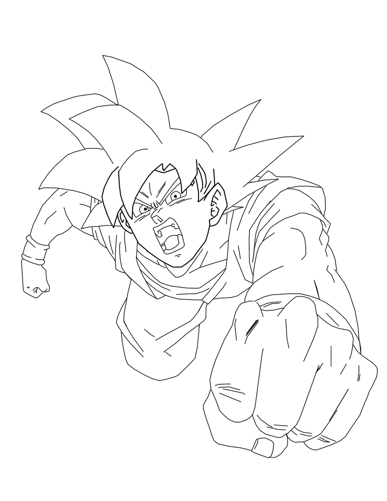 Goku God Free Coloring Pages
