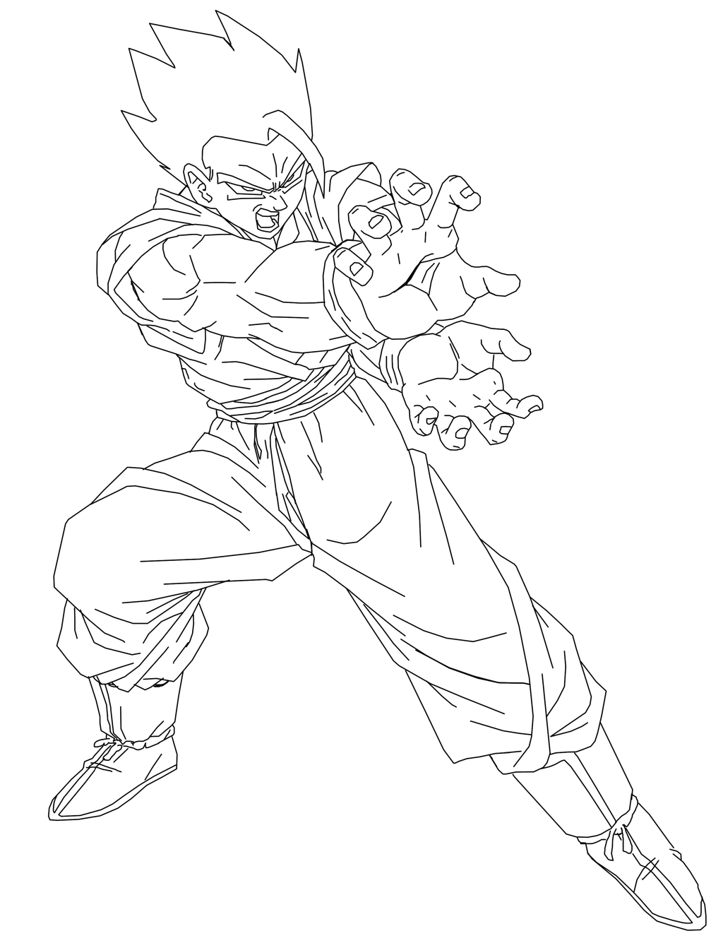 future gohan coloring pages - mystic gohan line art by brusselthesaiyan on deviantart