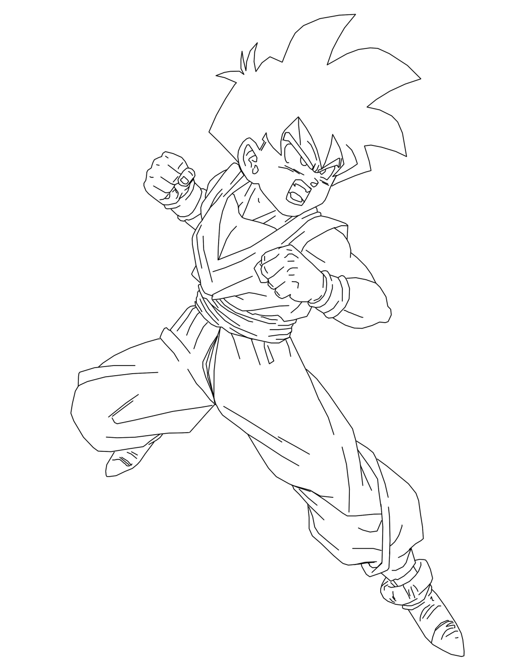Mobile/mystic Gohan Coloring Pages Coloring Pages