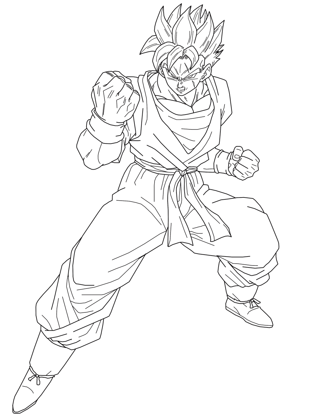 super saiyan future gohan version 2 lineart by brusselthesaiyan on