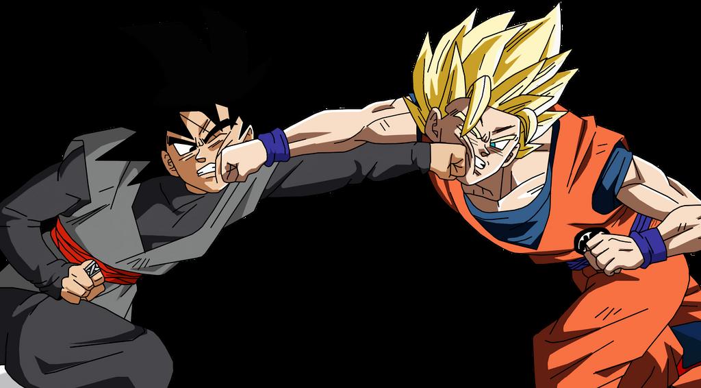 Super Saiyan 2 Goku VS Goku Black By BrusselTheSaiyan On