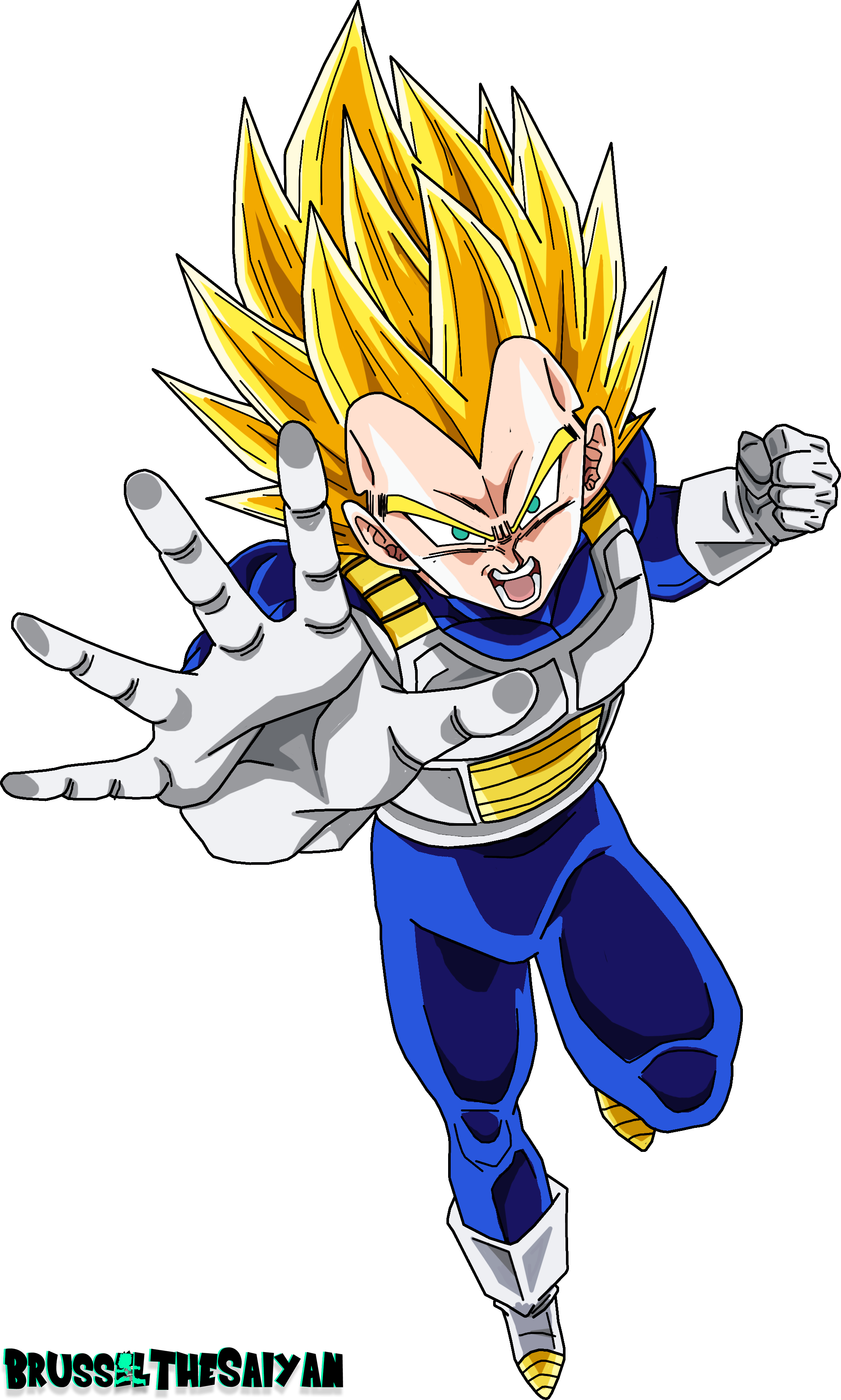 Super Saiyan 2 Vegeta By Brusselthesaiyan On Deviantart