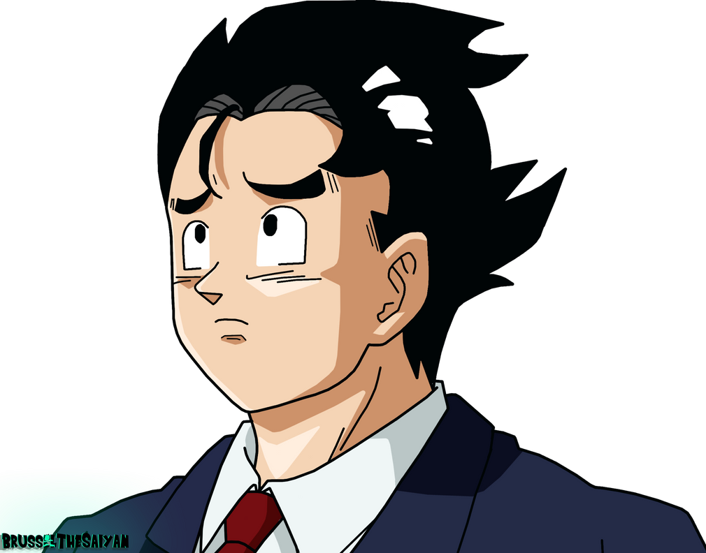Goku Slicked Back Hair By Brusselthesaiyan On Deviantart