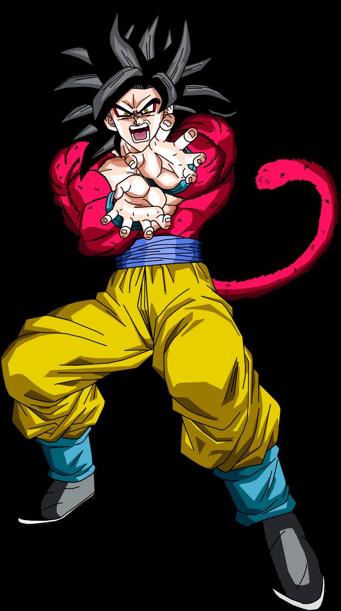 Super Saiyan 4 Goku by BrusselTheSaiyan ...
