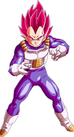 Vegeta Super Saiyan God by BrusselTheSaiyan