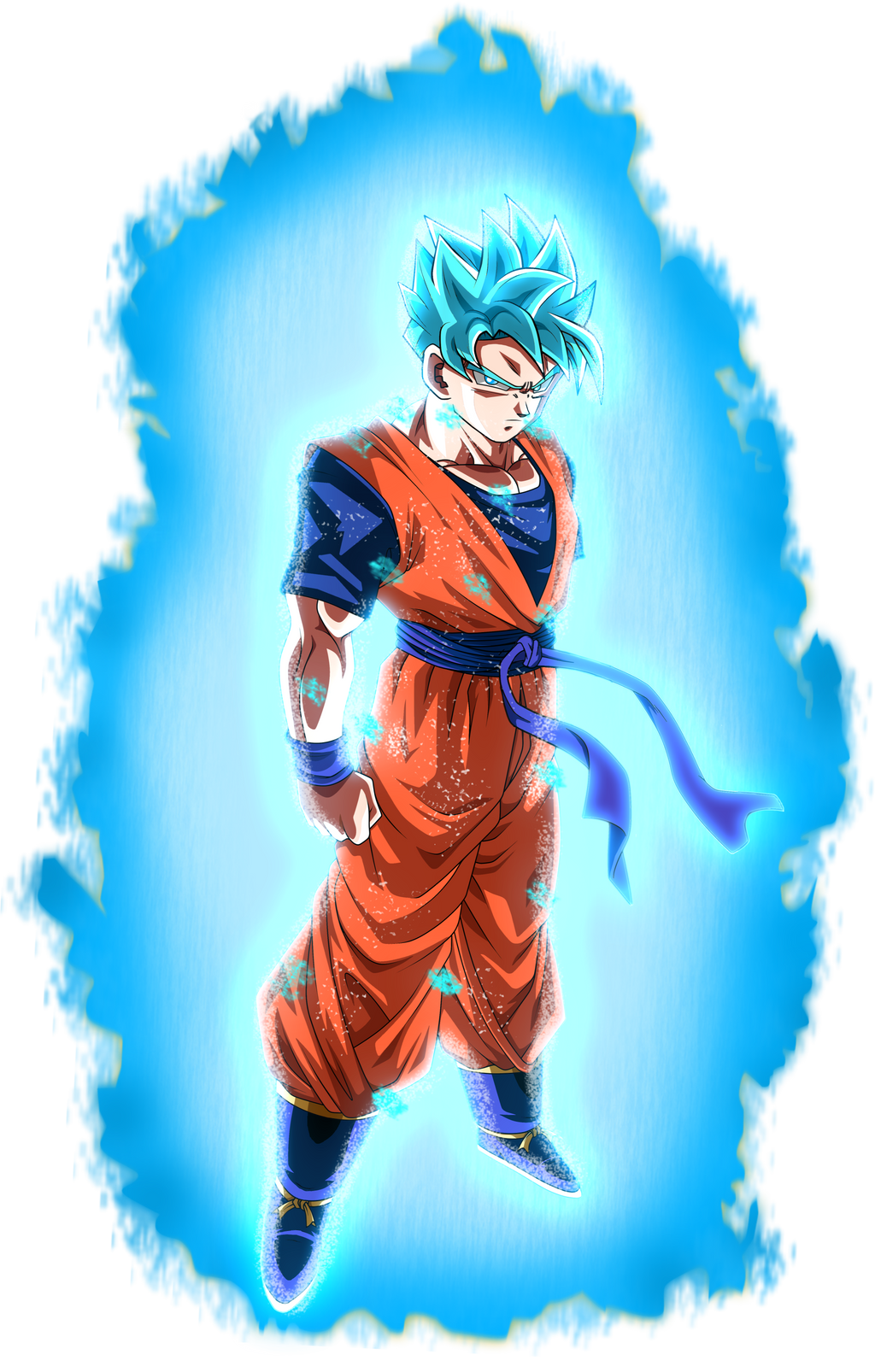 Son gohan super saiyan blue aura by brusselthesaiyan on - Son gohan super saiyan 4 ...