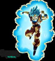 Super Saiyan Blue Goku (Universal Survival) Aura by BrusselTheSaiyan