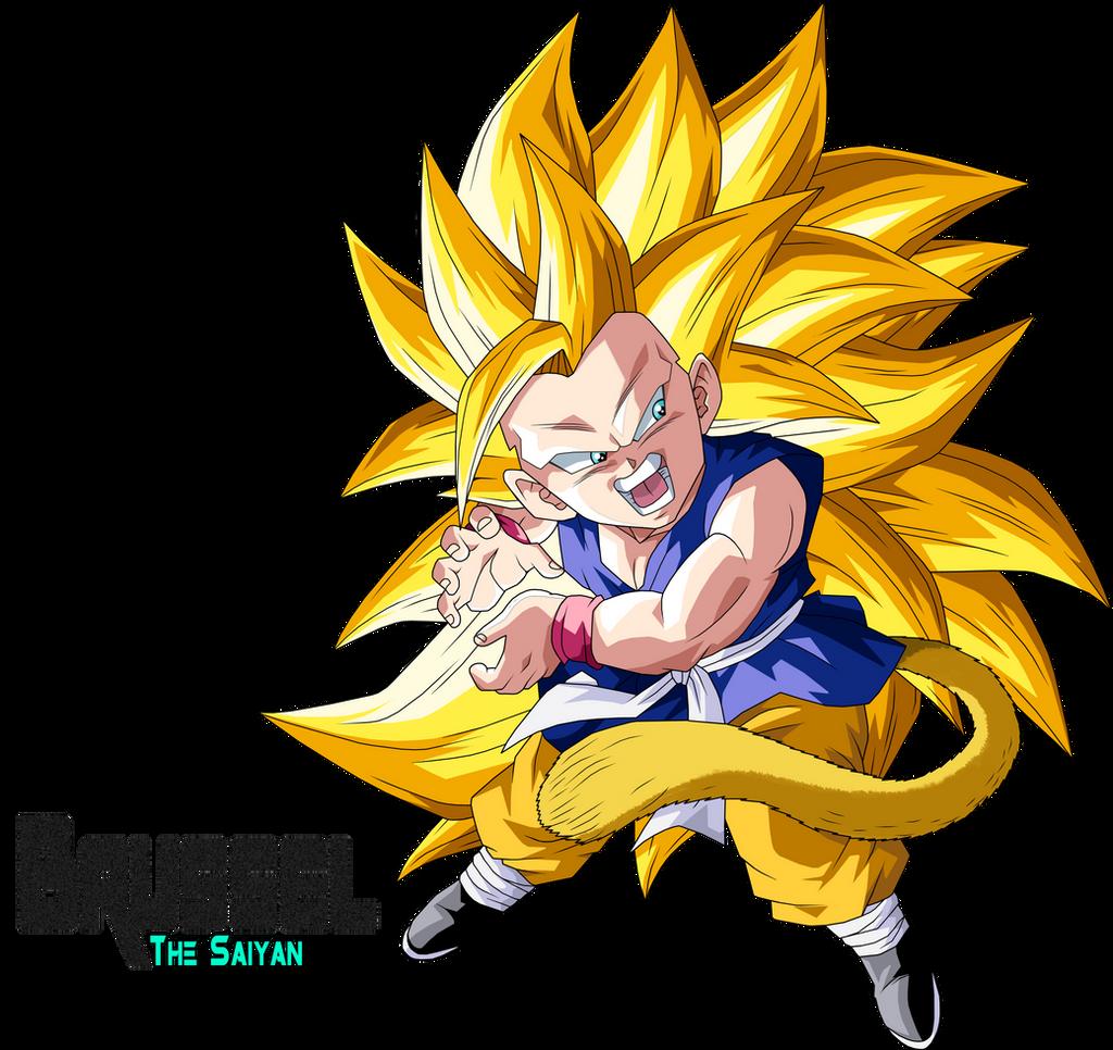 Dragon ball z kid goku super saiyan 3