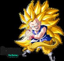 Super Saiyan 3 Goku Gt by BrusselTheSaiyan