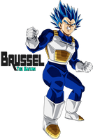 Super Saiyan Blue Evolution Vegeta by BrusselTheSaiyan