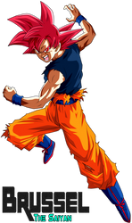Super Saiyan God Goku by BrusselTheSaiyan