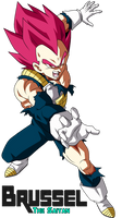 Super Saiyan God Vegeta DBS Broly by BrusselTheSaiyan