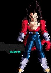 Super Saiyan 4 Vegeta by BrusselTheSaiyan