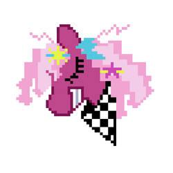 80's Cheerilee Pixel Pony by PonitaCupcake
