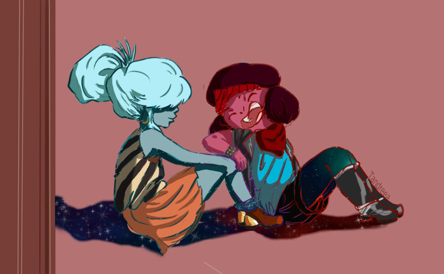Ruby and Saphire (Steven Universe) by tandreea80