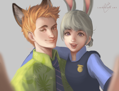 Nick and Judy by lashialee
