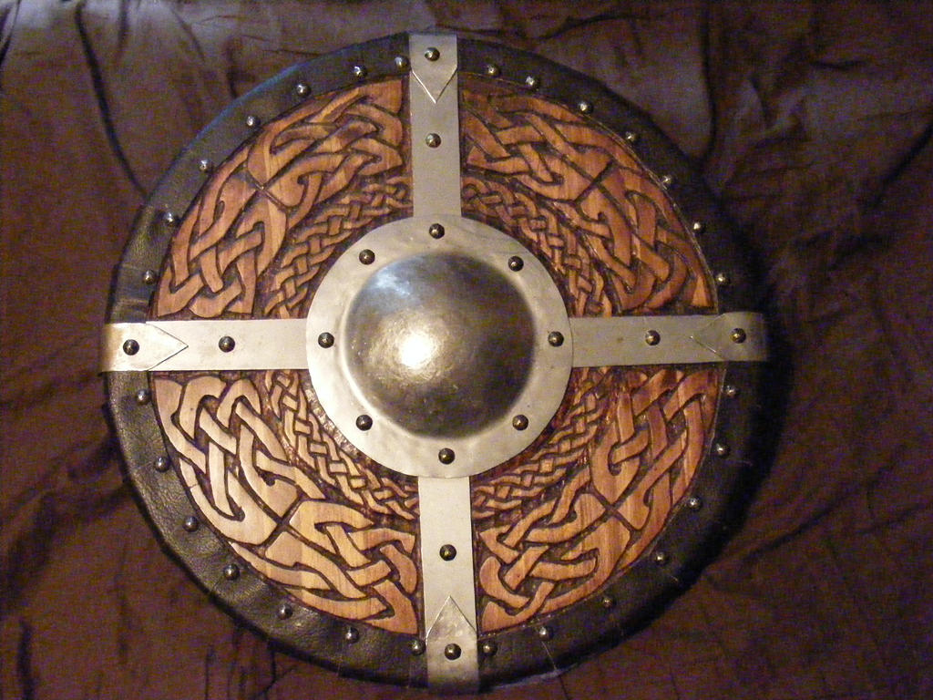 viking round shield 1 of 2 by knightofsparda on deviantart