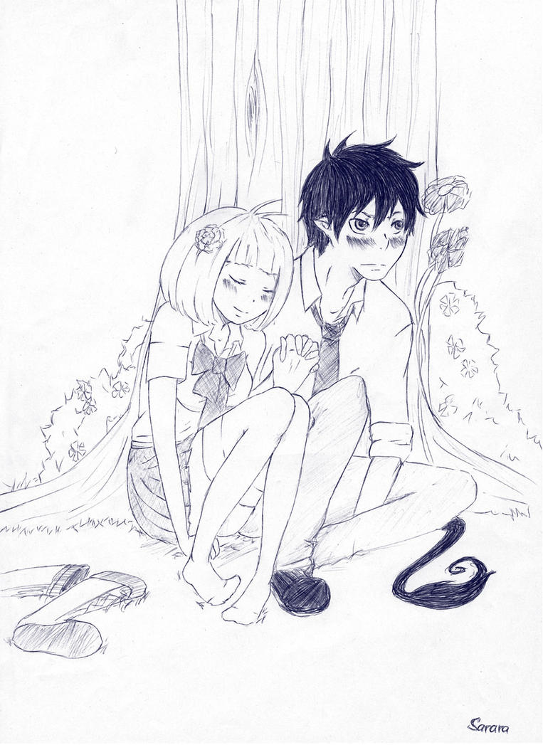 Next to Rin.. by Sarara-chan