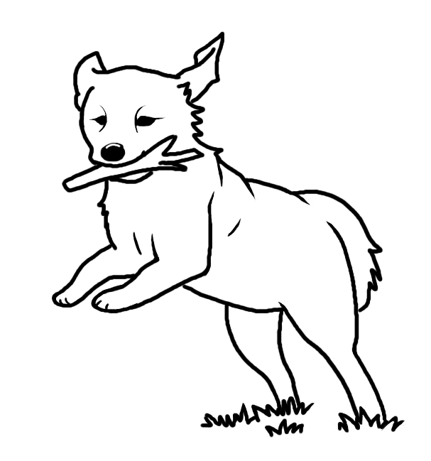 Line Drawing Of A Dog : Running dog lineart by blakperl on deviantart