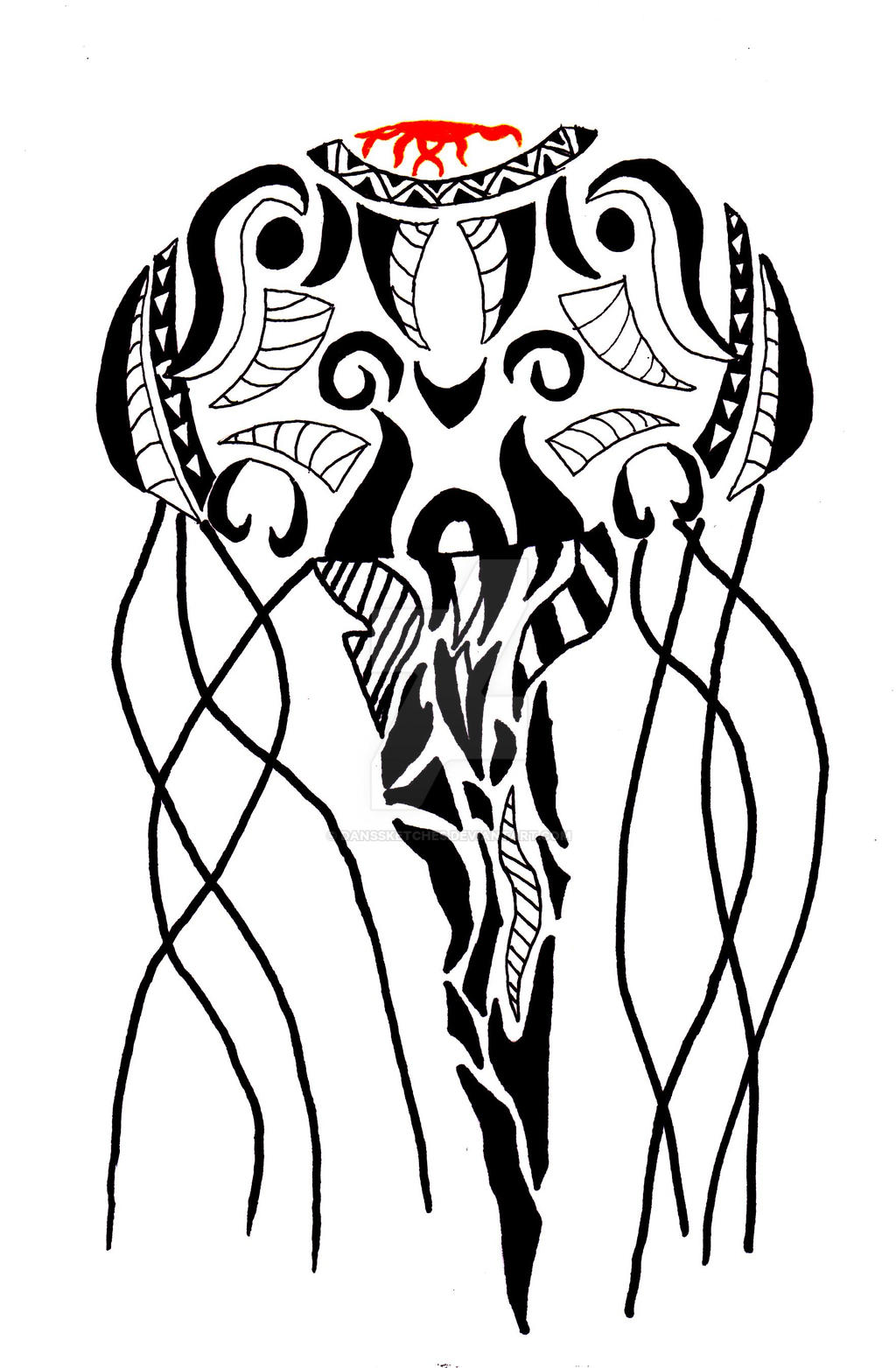 tribal jellyfish by danssketches on deviantart